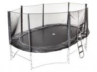 Studsmatta Super Oval med skyddsnät och stege