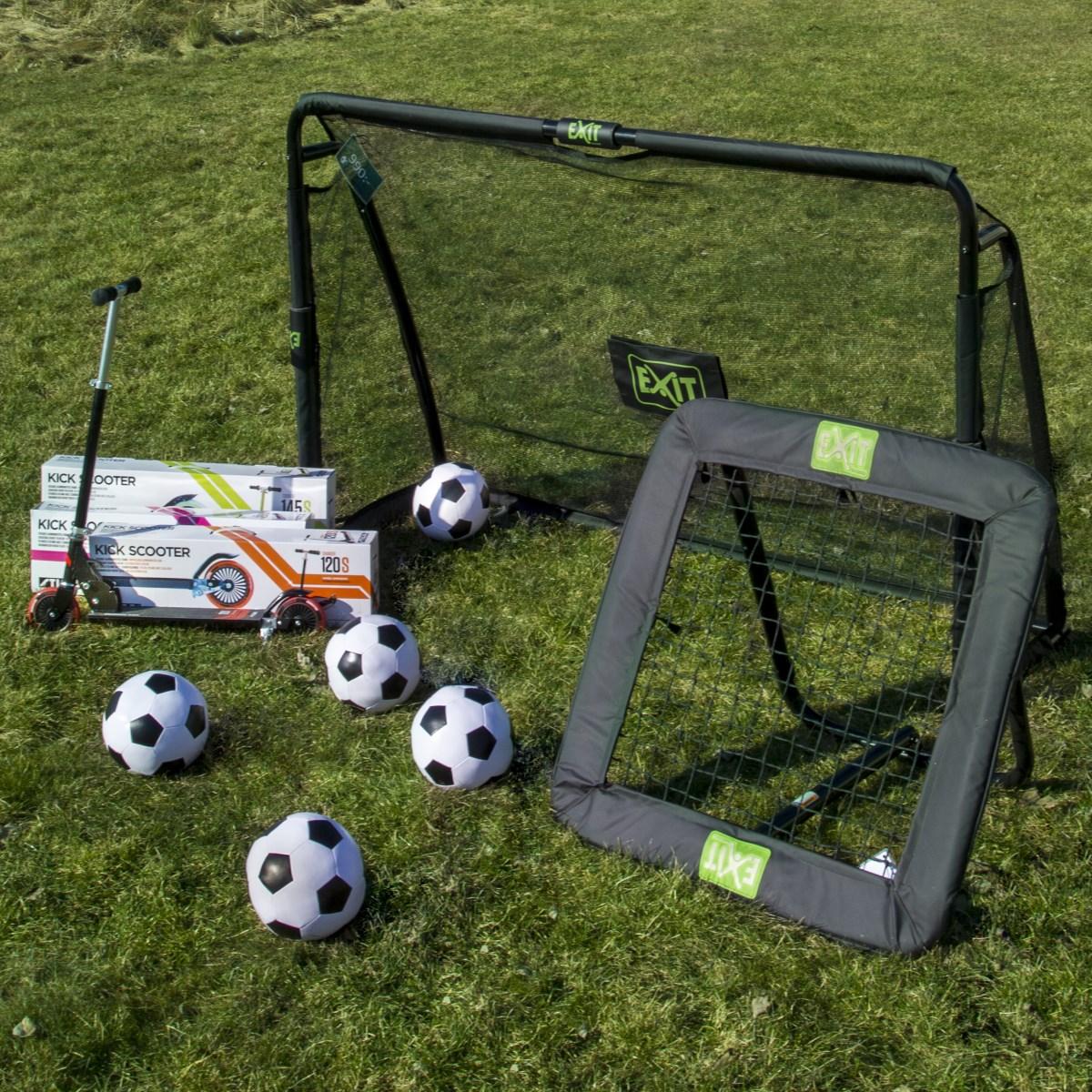 Fotbollsmål, kickbacks, sparkcyklar och bollar