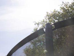 Toppkanten på skyddsnät HD med knopp och glasfiberstav